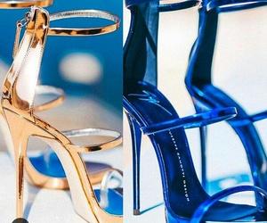 Bleu, mode, and chaussure image