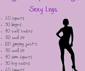 workout, fitness, and sexy legs image
