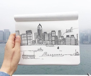 art, city, and doodle image