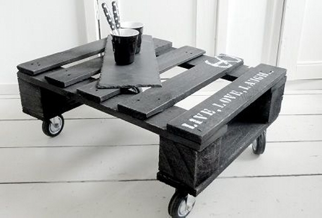 coffee tables, diy coffee table, and pallet coffee table image