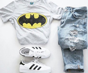 fashion, adidas, and batman image