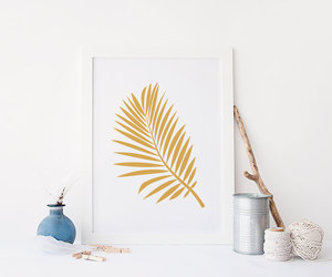 palm tree, tropical wall art, and etsy image