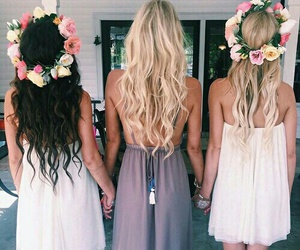 girl, hair, and friends image