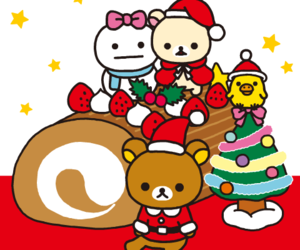 bear, cartoon, and christmas image