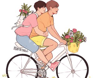 adorable, aesthetic, and bikes image