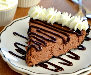 food, cheesecake, and chocolate image