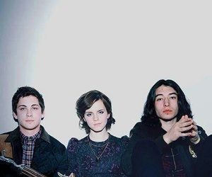 emma watson, logan lerman, and ezra miller image