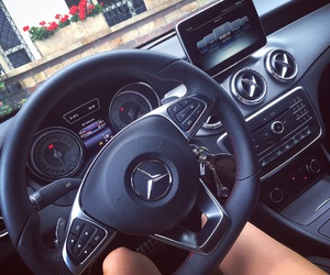 car, mercedes, and summer image