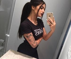 girl, tattoo, and makeup image