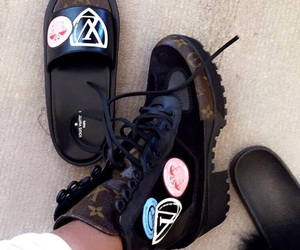 boots, Louis Vuitton, and style image