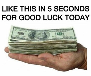 funny, good luck, and lol image