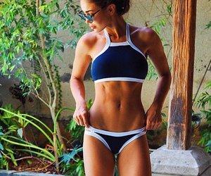 girl, fitness, and bikini image
