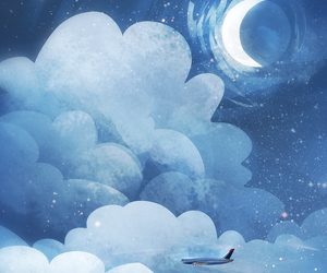 background, moon, and paint image