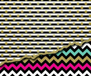 chevron, dots, and gold image