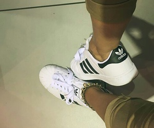 adidas, black and white, and girls image