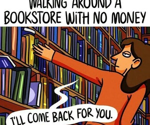 book, bookstore, and funny image