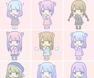 chibi, kawaii, and pixel art image