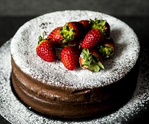 chocolate, strawberry, and cake image
