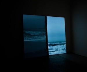 sea, grunge, and blue image
