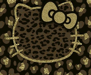 glitter, wallpaper, and hello kitty image