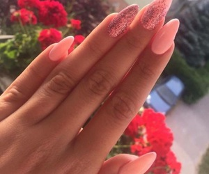 hand, nails, and pink image