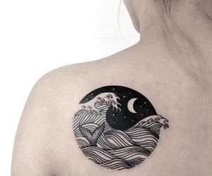 tattoo, moon, and night image
