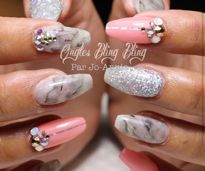 glitter, grey, and marble image