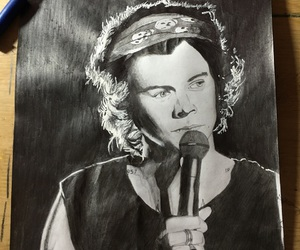 drawing, one direction, and Harry Styles image