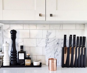 kitchen, marble, and home image