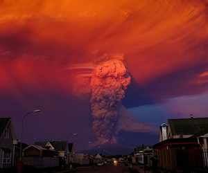 sky, volcano, and nature image