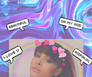 pink, purple, and arianagrande image