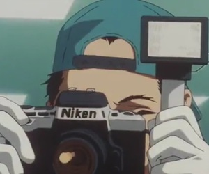 90s, anime, and camera image