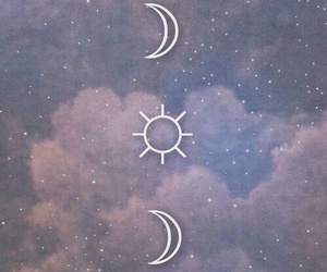 moon, sun, and wallpaper image