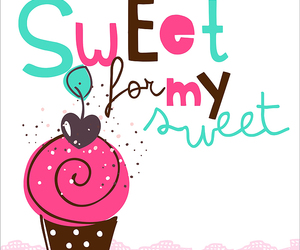 cupcake, illustration, and retro image