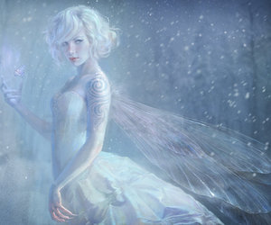 fairy, winter, and snow image