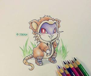 mouse, purple, and raticate image