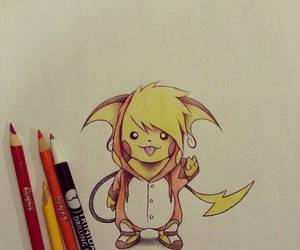 pikachu, pokemon, and art image