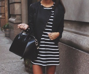 black, fashion, and outfit image