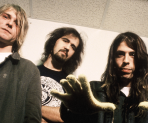 dave grohl, kurt cobain, and foo fighters image