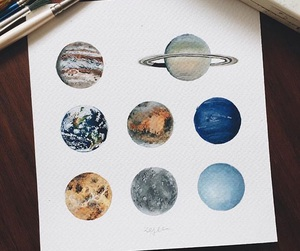 planet, art, and drawing image