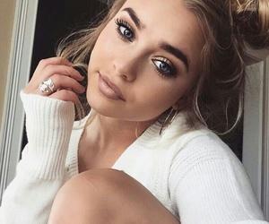 girl, make up, and white image