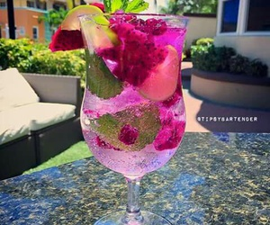 drinks, summer, and pink image