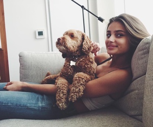 model, taylor marie hill, and dog image