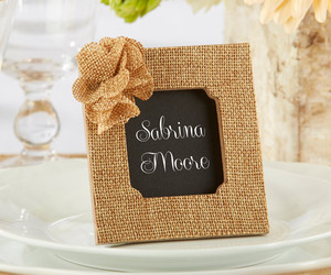 place card holders and rustic wedding favors image