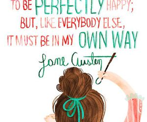 quote, jane austen, and happy image
