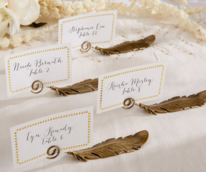 place card holders and vintage wedding favors image