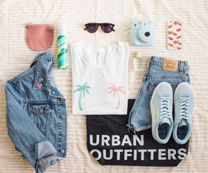 outfit, polaroid, and fashion image