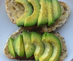 avocado, food, and bread image