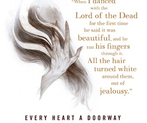 book, book quote, and every heart a doorway image