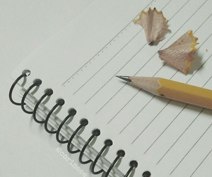 notes, pencil, and sharp image
